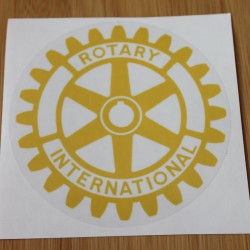 Rotary car sticker