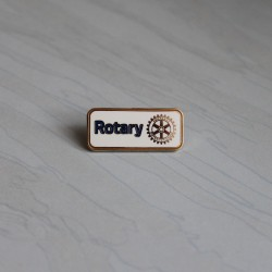 NEW Rotary Member Pin, white