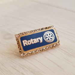 NEW Rotary Stone Member Pin, blue